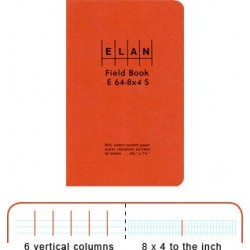 Economy Field Book, Sewn soft cover, E64-8x4S