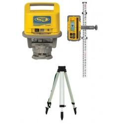 LL500 Laser w/ HL700 Receiver, GR152 (inch) Rod, and Tripod