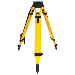 SiteMax Fiberglass Heavy Duty Tripod, with Dual Clamp, Black