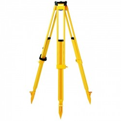 GST101, Wooden Tripod: yellow legs, hinges, feet, black dome, w/ Shoulder Strap